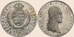 zehn eine feine mark sachsen 1823